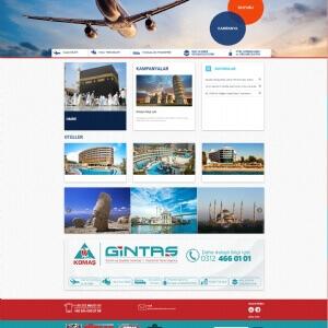 KOMAŞ-Gintaş Turizm Web Yazılım
